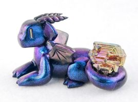 Blue/Purple Bismuth Dragon by HowManyDragons