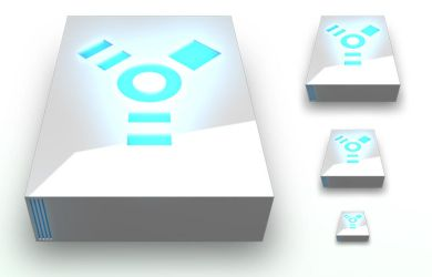 Firewire Drive White PNG by madFusion15