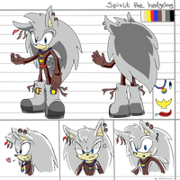 CM: Spirit the hedgehog reference sheet by shadowhatesomochao