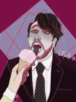 Dark eats ice cream  by QueenOfSpades010