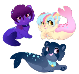 Flipoon adopts! 1/3 Open! by FluffleBear