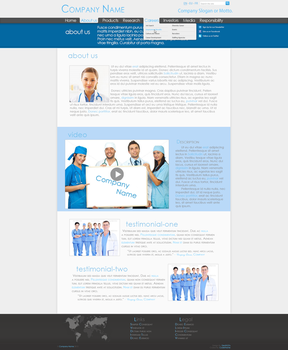 Medical Co. Professional Web Design [Page 2] by Death-GFx