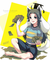Temmie Undertale by Panther-fam
