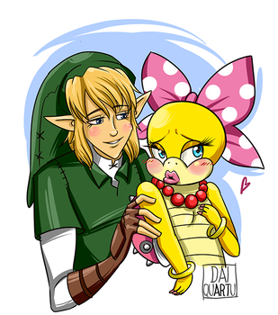 Link x Wendy Koopa by Dai-QuARTu