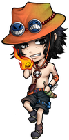 Portgas D. Ace chibi by zero0810