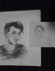 Two Self-Portraits by hEyJude4