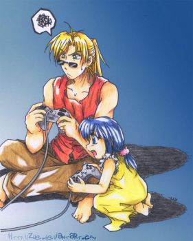 Chocobo Racing : Color Pencil by Zue