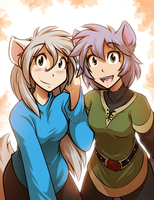 Raine and Kessah by Twokinds