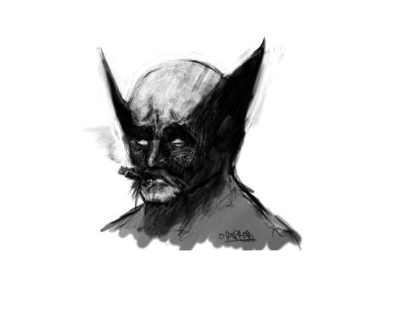 Sad Wolvie by omegaredtooth