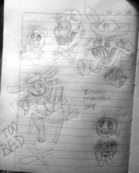 five nights at Flippy's (nightmares) [2/2] by Mary-Volt-htf