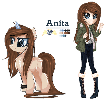 [OFFICIAL DESIGN] Ponysona Ref. Sheet - Anita by MayDeeDraws