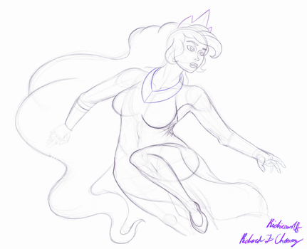 Moon princess sketch by Richiewolf