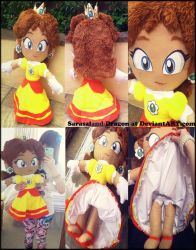 Commission: Princess Daisy Plush Doll by Sarasaland-Dragon