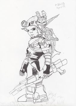 Jak and Daxter by Colelightning