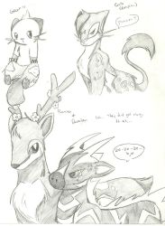 PKMN B and W Doodles 2 by Kurofaikitty