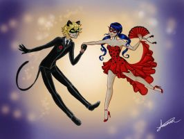 Ladybug and Chat Noir =^.^= by Chelseakort