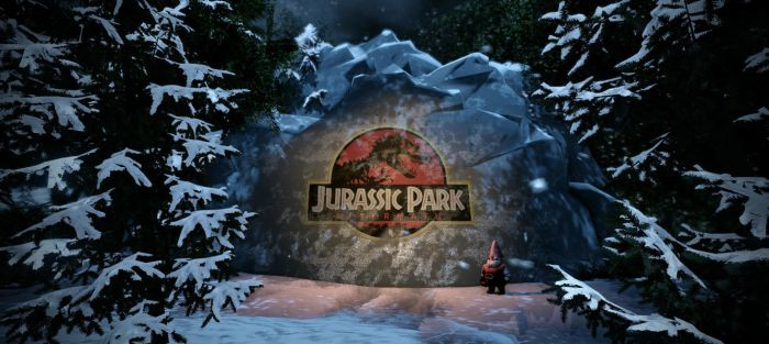 Jurassic park Aftermath - Merry Christmas by metonymic