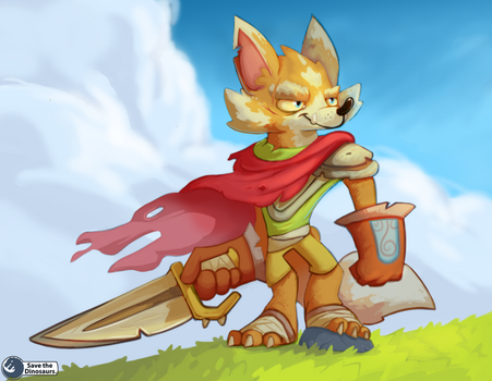 Fox Warrior by Save-The-Dinosaurs