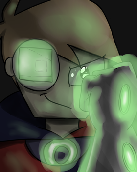 Doctor Chaotic Glove Glow by timsplosion