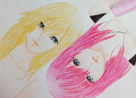 KH: Namine and Kairi by BloodyAlysskokoro