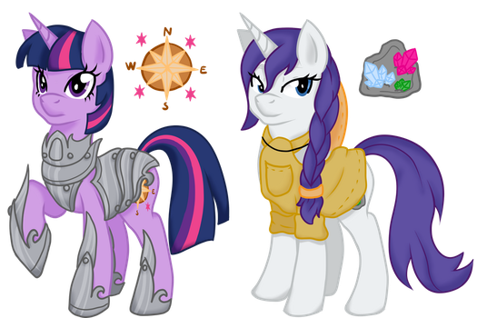 Eclipseverse Twilight and Rarity by crowmagnon