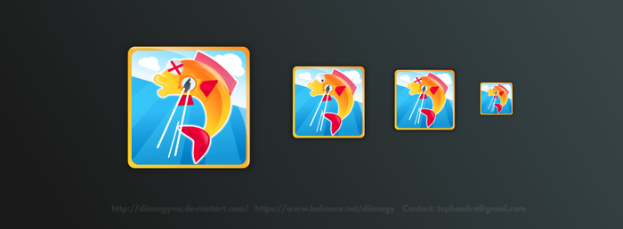 Fish Shooter Game App Icon by DianaGyms