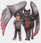 commission: Boy and wolf