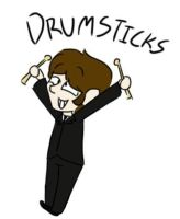 Ringo and his drumsticks by psychedelic-weirdo