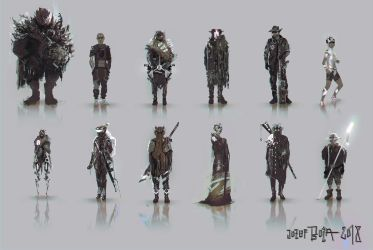Character Concept Art SKETCH by RoeeateR