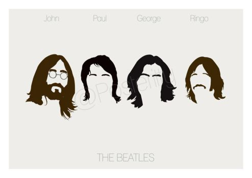 Beatles Minimal Poster Art by Posteritty by Posteritty