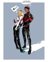 Miles and Gwen by SilentVoize