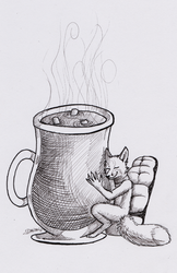 Foxtober day 15 - Hot Cocoa by The-fox-of-wonders