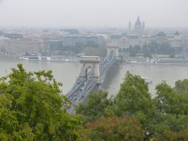 Chain Bridge from Buda Castle by setanta5