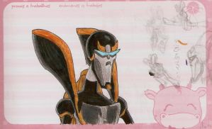 Prowl drawing in Sketch Markers by imaphantomfan