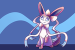 Sylveon - September 2017 Postcard by Petuniabubbles