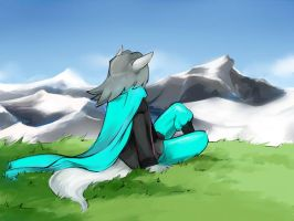 In the mountains by YelowFOX
