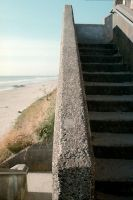 Beach stairs by isaacsflower