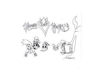 Kingdom Hearts: A Trace of shadows and Friends by skysoul25
