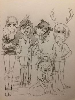 Almost all of my ocs by MapleNutCase77