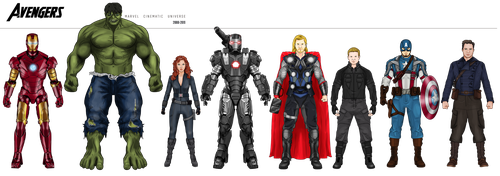 Pre-Avengers Phase I (2008-2011) by efrajoey1