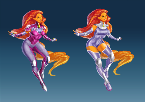 Starfire Redesign by jadenwithwings