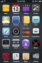 Black Light Theme for iPhone4 by vezok