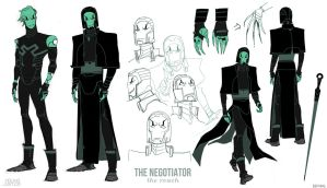 Young Justice Concepts: Reach Negotiator by dou-hong