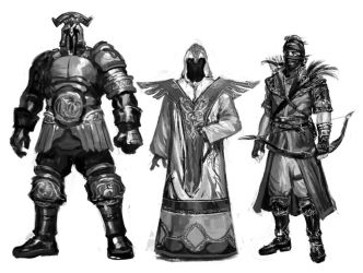 Character Concepts Lineup by irvintustin