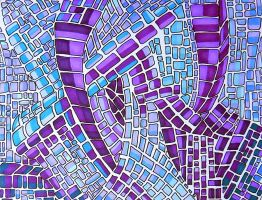 purple mosaic, the dive by Lou-in-Canada