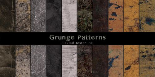 Grunge Patterns by Pickled-Jester-Inc