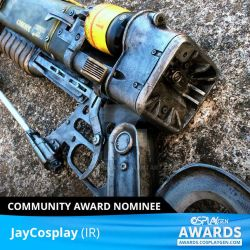 CosplayGen award for 'Best Prop' nomination! by JayCosplay
