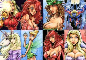 Sketch Card Commissions 1 by Axebone