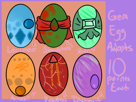 Gem Eggs Adopts (CLOSED) by Plant--Mom