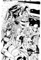 BIRDS OF PREY #102 Secret Six Full-Pg Splash by DRHazlewood